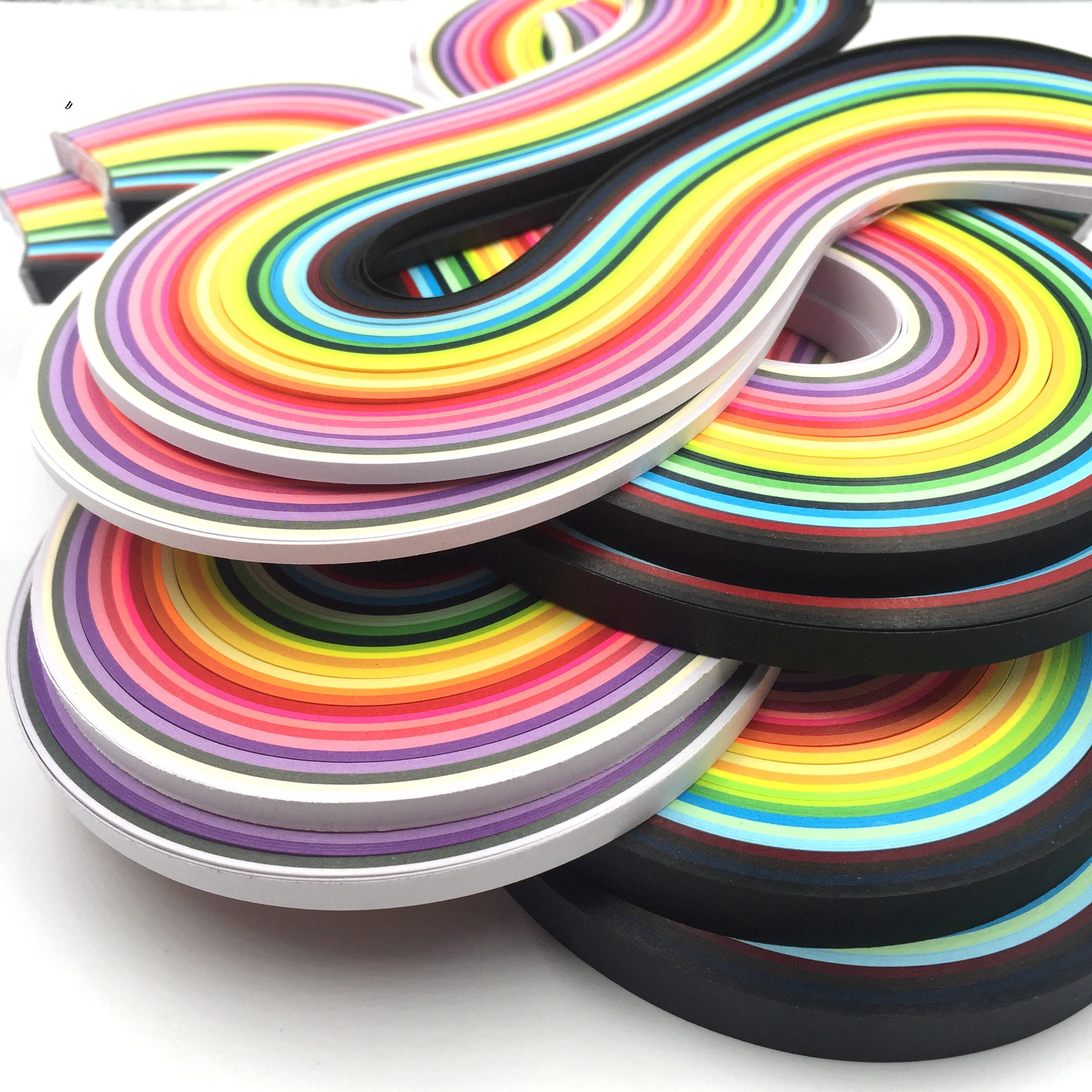 Juya Blue Shade 6 Colors Paper Quilling 3//5//7//10mm Width 540mm Length 120strips//pack Paper Width 5mm