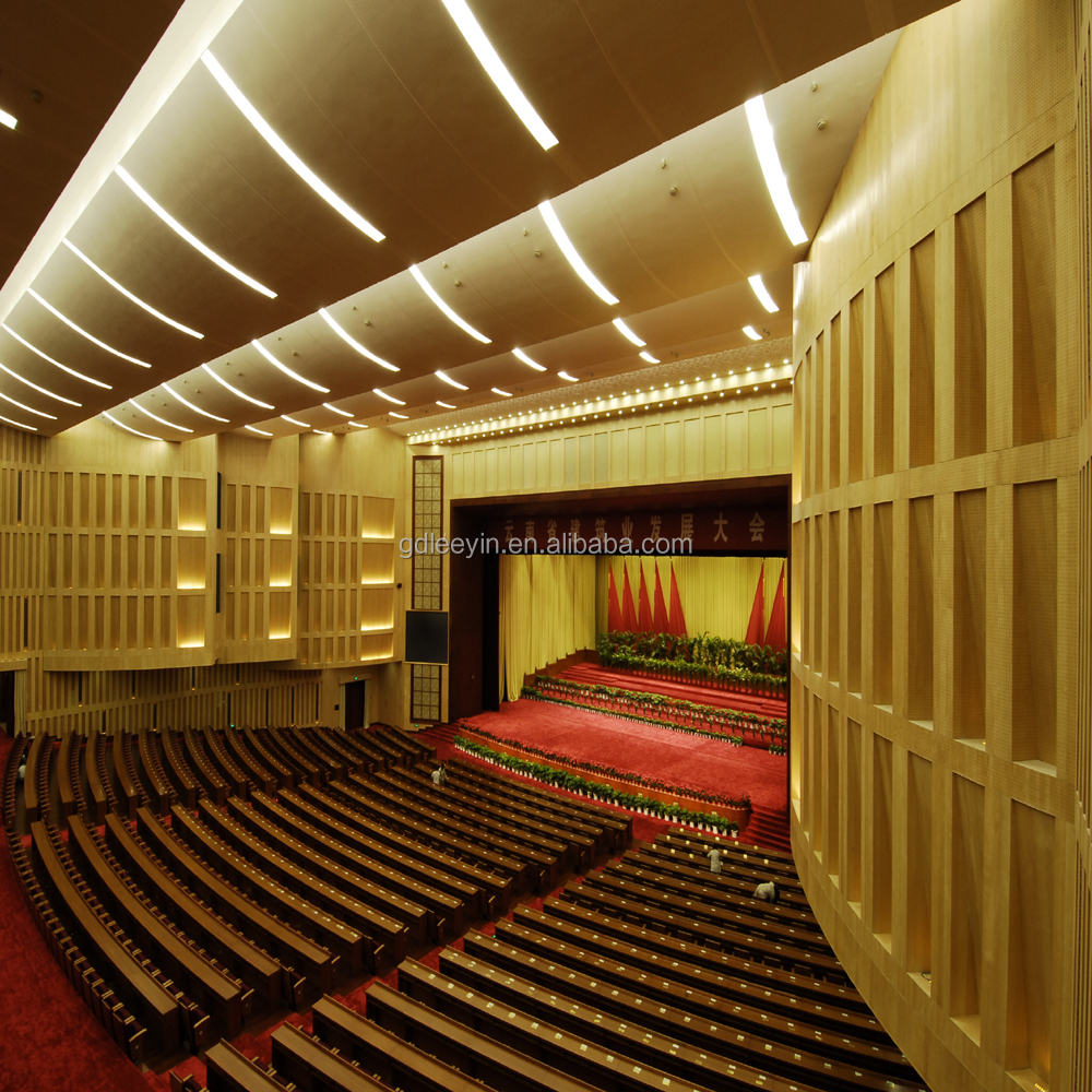 Mdf Environmental Friendly Sound Absorption 3d Wooden Acoustic ...