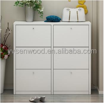 2015 Particle Board Convbenient White 26 Doors Shoe Cabinetshoe