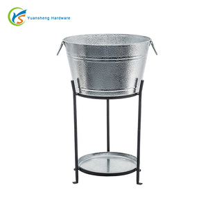 Ice Bucket With Stand and Tray
