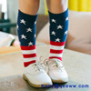New American USA Star Flag Stripes Fashion Casual Crew Glory Socks