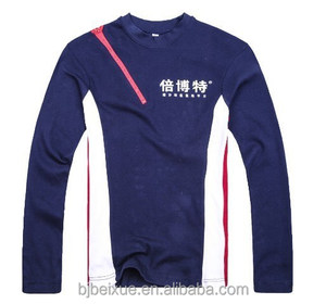 new style long sleeve color matching t shirt t-shirt custom t-shirt from china garment factory