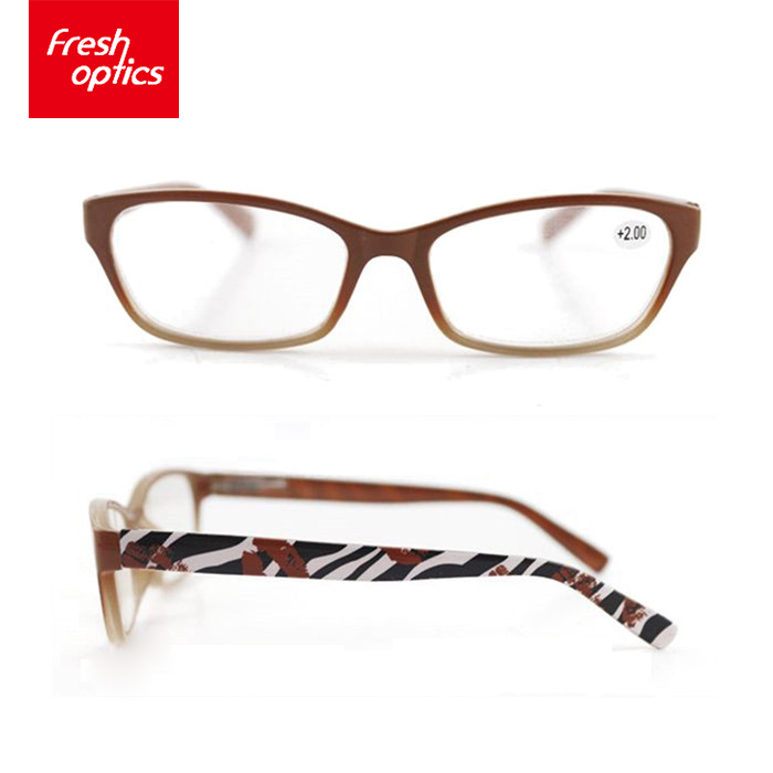 Economical design optics fashion male cat eye reading glasses