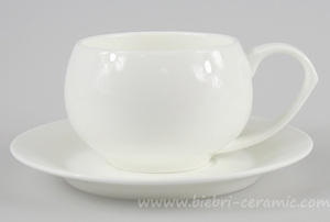 Wholesale All Size Plain White Color Custom Design Tea Coffee Cup Saucer Porcelain