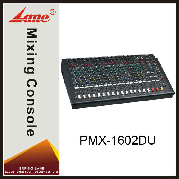 Lane PMX-1602DU 16 channel dj USB power audio dj mixer console