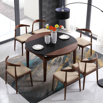 Modern Extendable Gl Top Dining Table With Oak Legs Product On