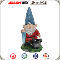 Outdoor decoration gnome with an umbrella handmade resin garden statues