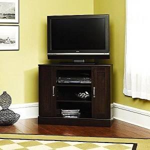 Buy Sauder Cherry Corner Tv Stand With Storage For Tvs Up To