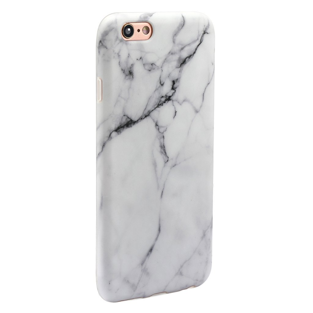 GOLINK iPhone 6 Plus Case Slim-Fit Ultra-Thin Anti-Scratch Shock Proof Dust Proof Anti-Finger Print TPU Case for iPhone 6/6S Plus(5.5 inch) - Whole White Marble