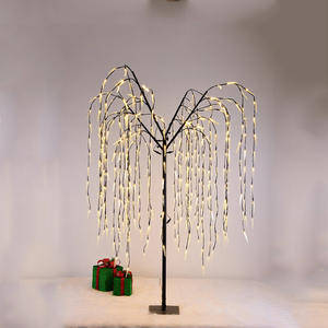Outdoor garden decor led holiday willow tree lighting and various tree shape string light