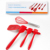 New Products Colorful Non-Toxic Best Silicone Baking Pastry Spatula Whisk Brush Product Set Of 5