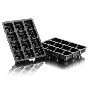 12 Cells Black PS Plastic Plant Growing Seed Germination Starting Tray