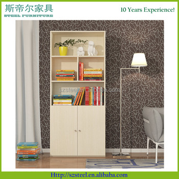 Wooden Book Storage Cabinet Mdf Office File