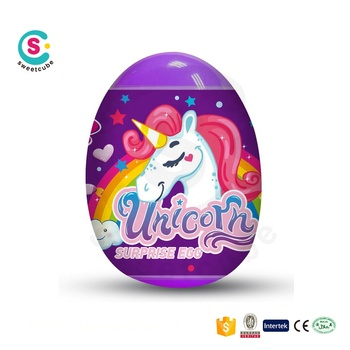 Supermarket standard good quality Unicorn Surprise egg with candy