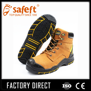 Insolent used bulk leather steel toe cap work boots /men/safety boots