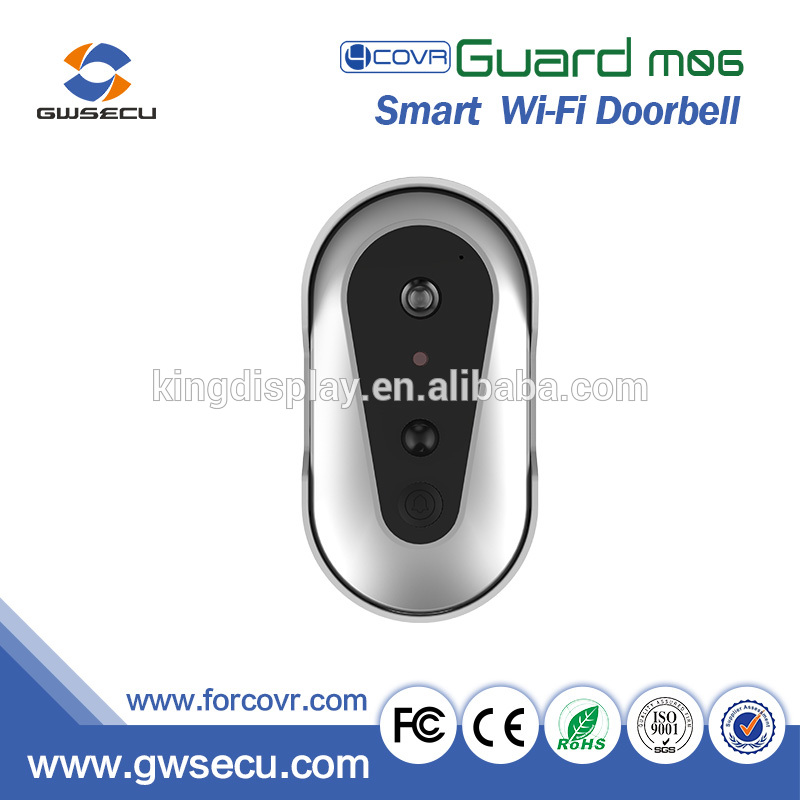 Battery operated wireless video door phone doorbell camera