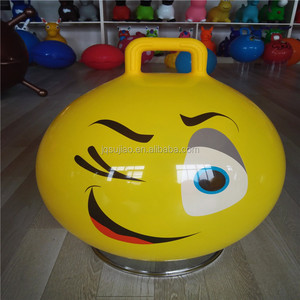 jumping bouncer ball 45cm 500g inflatable toy emoji interesting ball