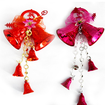 wholesale christmas bell decoration christmas wall hanging decorations