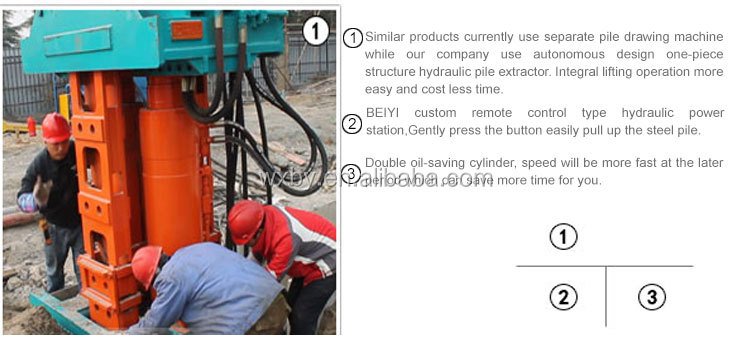 Excavator Attachment Construction Hydraulic pile pulling machine