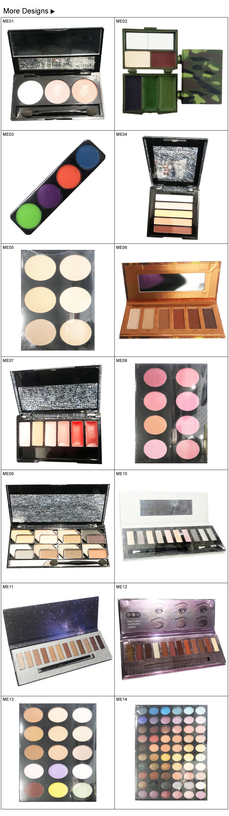 Cross-border orders for custom export factories in Europe and the United States multicolor eyeshadow disk matte color flash powd