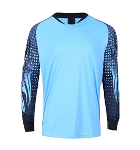 Blue Training Soccer Jersey,Long Sleeves Sport Wear