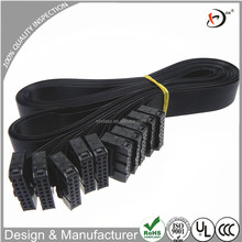 Custom 16pin 1.3M 2.54mm IDC cable assembly Black flat ribbon cable for lcd panel