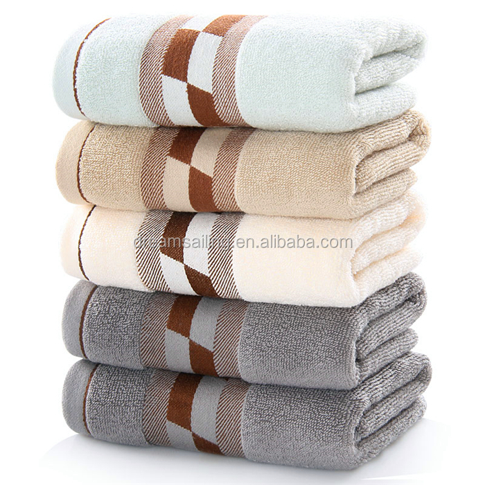 100%cotton custom embroidery logo bath towel high quality multi-color hotel towel