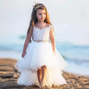 3 Year Old Baby Flower Girl White Tutu Indian Party Dresses for Wedding