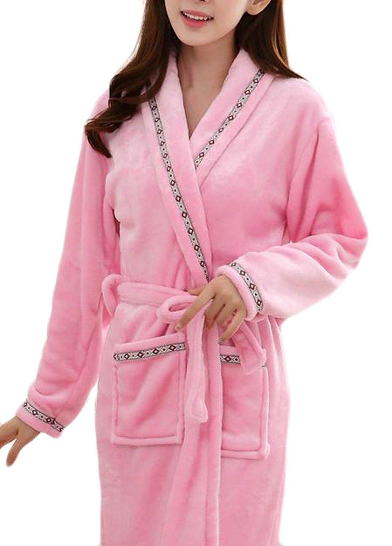 Get Quotations · Papijam Womens Flannel Nightgown Robe Print Homewear  Winter Bathrobe 0c12736dc