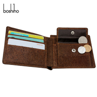 Eco friendly material slim and light men cork wallet with rfid blocking