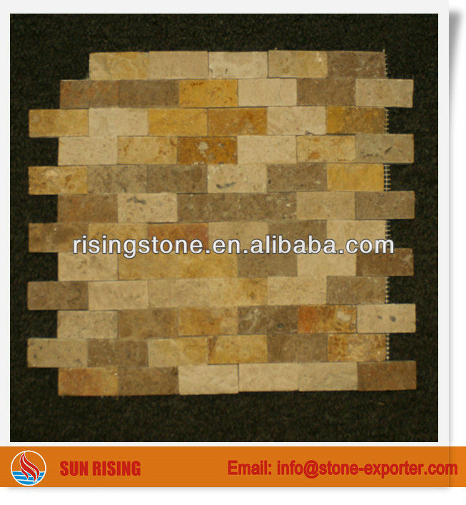 1x2 Split Face mixed Travertine