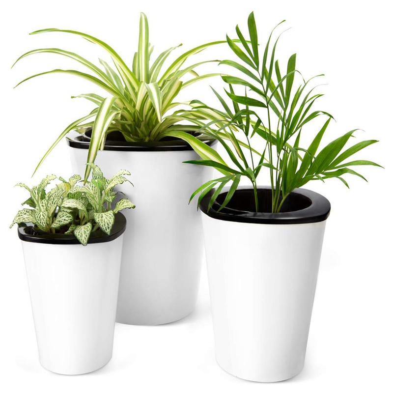 Lazy Self Watering Planting Pots