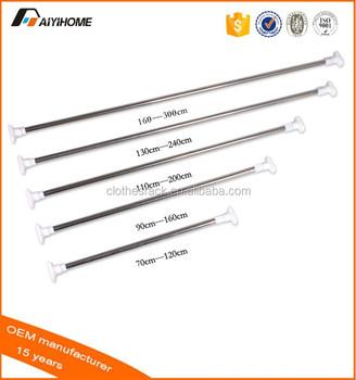 Aiyi Home Supply Telescopic Bathroom Curved Shower Curtain RodAdjustable Rod