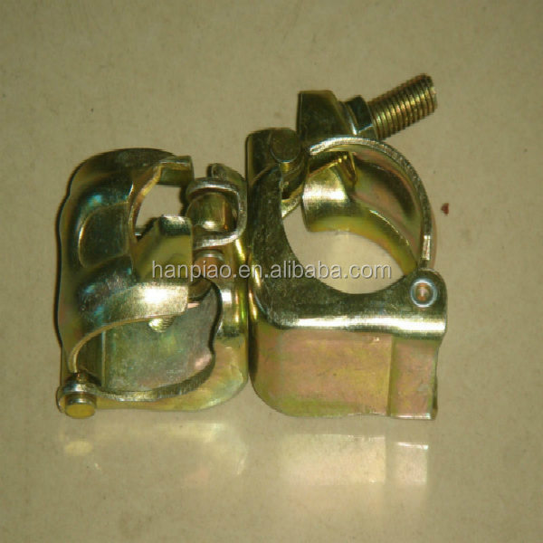 Steel galvanized pipe or round tube clamp, scaffolding fixed or swivel coupler