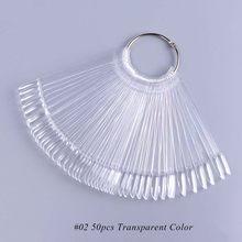 1 Набор, цветные накладные ногти для дизайна ногтей, круглые, натуральные, прозрачные, для гелевого маникюра, веер для практики, инструмент д...(China)