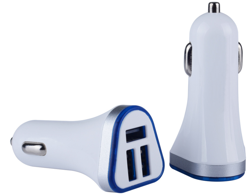 3 Port  5V 3.1A Triple Three USB Car Charger Adaptor