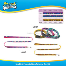 High Quality Embroidered Nylon Dog Collar And Leash Pet Supply
