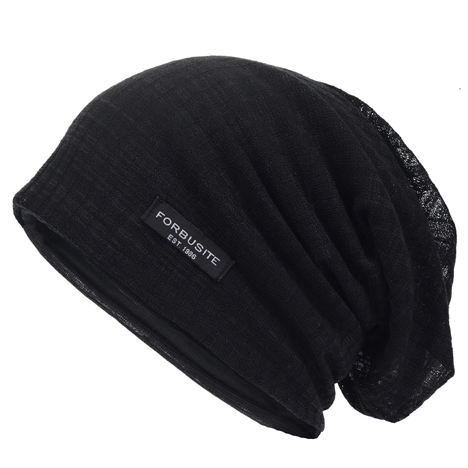 3010a74d301 Get Quotations · Wimdream Slouch Mens Beanie Hats Stripe Summer Winter Caps  B018h (Black)