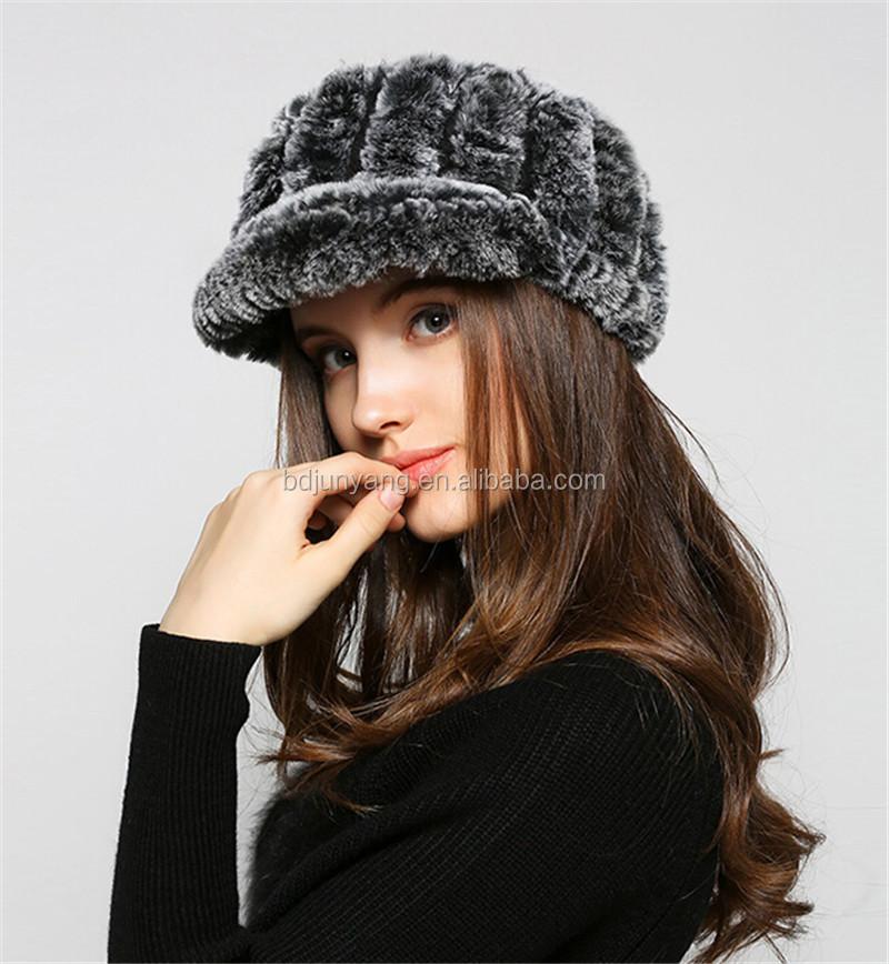 Sombrero de piel de conejo Rex con capucha mujeres envío libre del ...