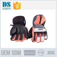 High Quality Winter Waterproof Woven Mens Ski Gloves