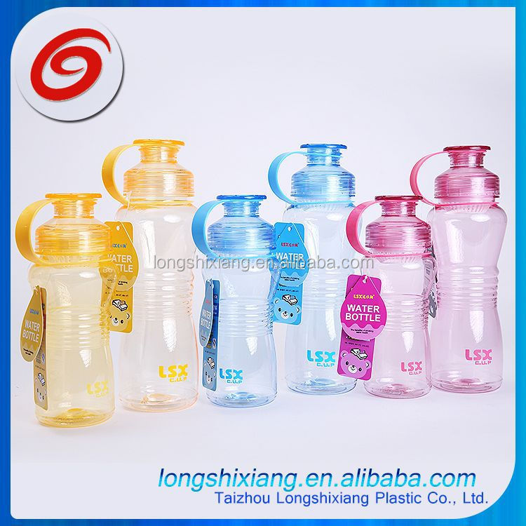 2015 500ml lock plastic water bottle,manufacturer plastic water bottle,branded plastic water bottle with paper card