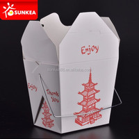Take away Disposable Paper Chinese noodle boxes with printing