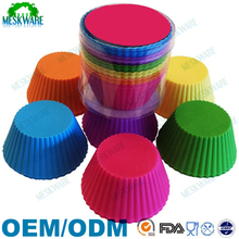 Silicone cups bakeware muffin cupcake liners for Muffin, Gelatin, Snacks, Frozen Treats, Ice Cream or Chocolate Shell