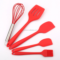 Kitchen Utensils five Sets Of Multi-function Cooking sets including two spatula, brush, whisk and Scoop Shovel