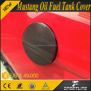 Carbon Fiber Mustang Car Oil Fuel Tank Cap Cover for Ford Mustang 2015UP