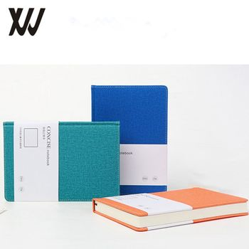 A5 Fashion Linen book cloth fabric hard cover journal notebook with book sleeve