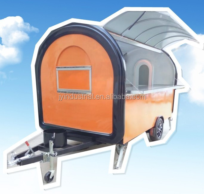Fast food mobile kitchen trailer with canopy, truck trailer