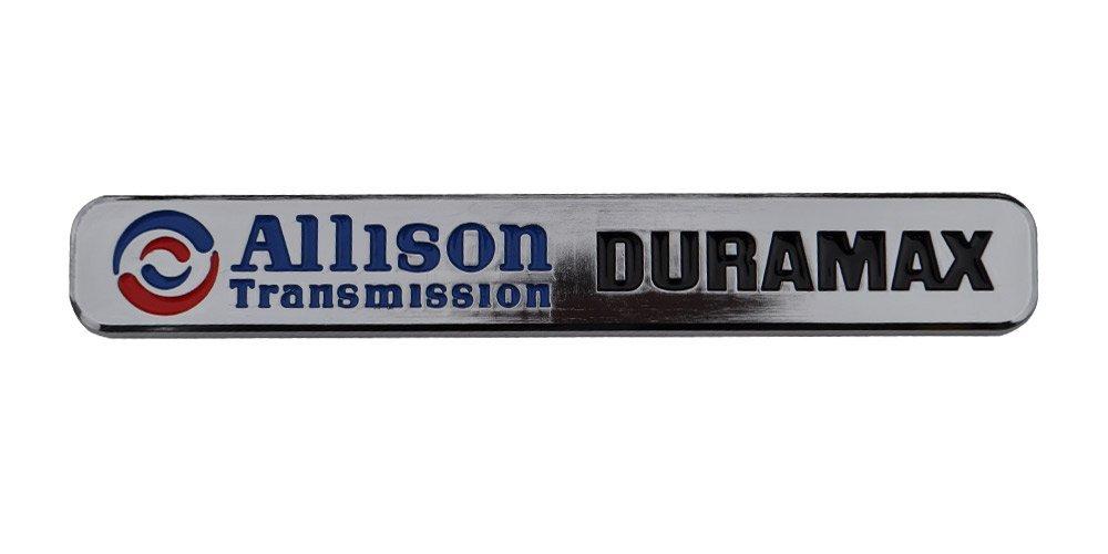 Buy Duramax Diesel Allison Chrome Emblem Chevy Silverado Gmc Sierra