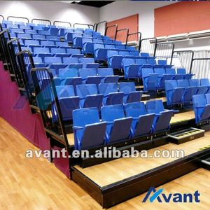 Selent sports tribune seating telescopic seating gym seating rail retractable gym bleachers