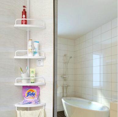 2015 high quality four layer bathroom kitchen bathroom - Free standing corner bathroom shelves ...